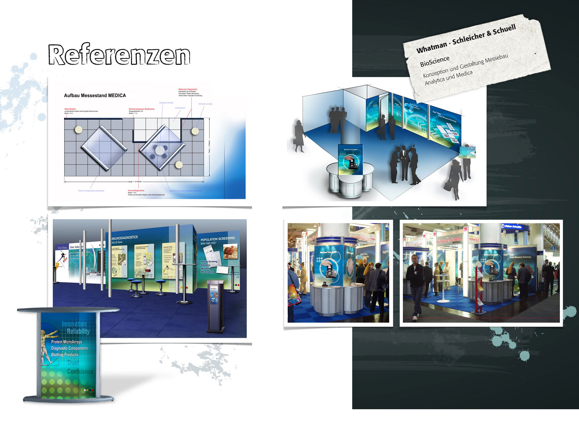 Messestand, Konzeption, Plakate